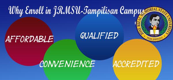 Why Enroll in JRMSU- Tampilisan Campus
